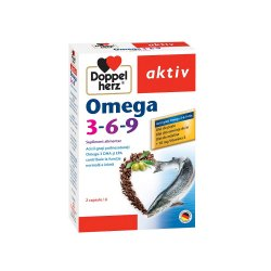Omega 3-6-9 + vitamina E, 30 capsule, Doppelherz