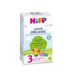 Organic 3 formulă de lapte de creștere, +12 luni, 500 g, Hipp