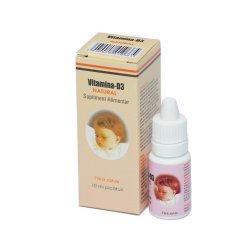 Picaturi cu Vitamina D3 Natural, 10 ml, Natural Pharmaceuticals