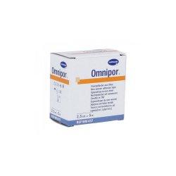 Plasture hipoalergen pe suport de hârtie Omnipor, 2.5cmx5m, 1 bucată,Hartmann
