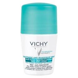 Roll-on antiperspirant fără pete albe 48 H, 50 ml, Vichy