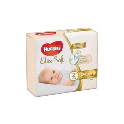 Scutece Elite Soft nr 2, 4-6kg, 24 buc, Huggies