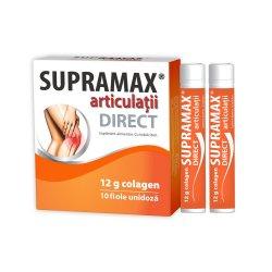 Supramax articulații Direct 12g colagen, 10 fiole, Natur Produkt