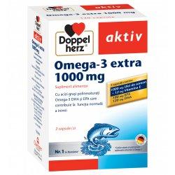Ulei de Somon Omega 3+Vitamina E, 120 capsule, Doppelherz