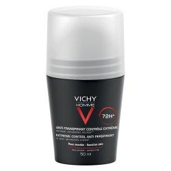 Deodorant roll-on antiperspirant control extrem pentru barbati 72h, 50 ml, Vichy Homme