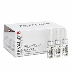 Loțiune activă și energizantă cu cofeină și extracte naturale pentru par Revalid Tonic, 20 fiole