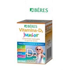 Vitamină-D3 Junior 800 UI, 50 comprimate masticabile, Beres image