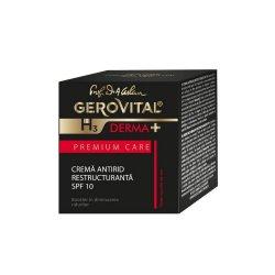 Cremă antirid restructurantă SPF 10 Gerovital H3 Derma+ Premium Care, 50 ml, Farmec
