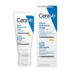 Cremă hidratantă de față cu SPF 25 pentru ten normal-uscat, 52 ml, CeraVe
