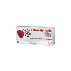 Extravalerianic Cardio, 30 capsule, Biofarm