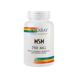 MSM 750 mg Solaray, 90 capsule vegetale, Secom