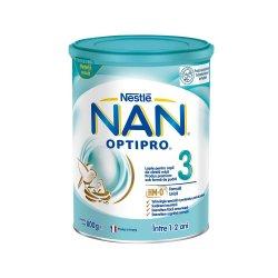 Nan 3 Optipro Formula de Lapte praf Premium, +12 luni, 800 g, Nestle