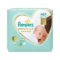 Scutece Premium Care Newborn, Nr 1, 2-5 kg, 26 buc, Pampers