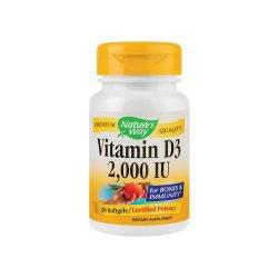 Vitamina D3 2000 UI Nature`s Way, 30 capsule, Secom