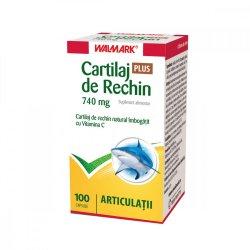 Cartilaj de Rechin Plus 740 mg cu vitamina C, 100 capsule, Walmark image