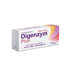 Digenzym Plus fără zahăr, 20 tablete, Labormed