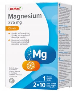 Dr.Max Magnesium Citrate 375mg 20cpr efervescente