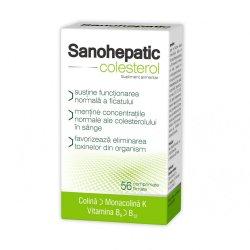 Sanohepatic Colesterol, 56 comprimate, Zdrovit
