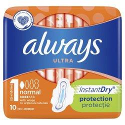 Absorbante Always Ultra Normal, 10 bucati, P&G