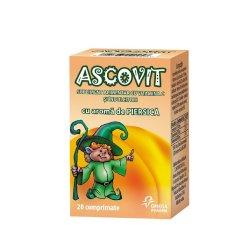 Ascovit cu Vitamina C aromă de piersică, 20 comprimate, Omega Pharma