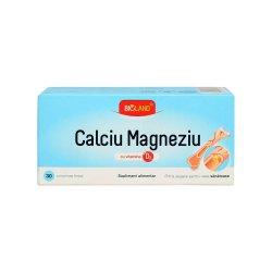 Calciu Magneziu cu vit. D3 Bioland, 30 comprimate, Biofarm