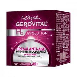 Cremă anti-age intens restructurantă 45 Gerovital H3 Evolution, 50 ml, Farmec