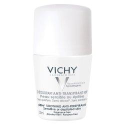Deodorant roll-on antiperspirant faraparfum 48h, 50 ml, Vichy