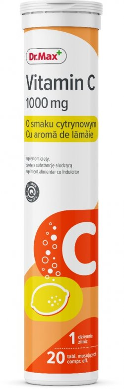 Dr.Max Vitamina C 1000mg 20cpr efervescente