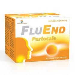 FluEnd portocale, 20 comprimate, Sun Wave Pharma