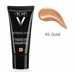 Fond de ten corector cu acoperire 16 ore DermaBlend, Nuanța 45 Gold, 30 ml, Vichy