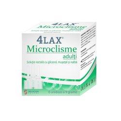 Microclisme adulti 4Lax, 6 unidoze x 9 g, Solacium Pharma