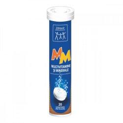 Multivitamine și Minerale, 20 comprimate efervescente, Zdrovit
