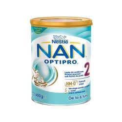 Nan 2 Optipro formulă lapte de continuare Premium, +6 luni, 400 g, Nestle