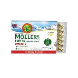 Omega 3 Forte, 150 capsule, Moller`s