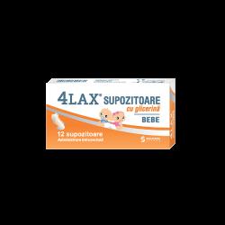 Supozitoare cu glicerina pentru bebelusi 4Lax, 12 bucati, Solacium..