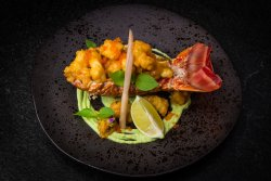 Robusta to chilly with red curry sauce   image