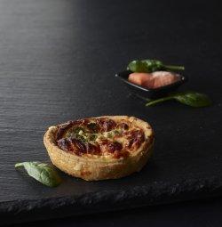 Quiche brocolis saumon image