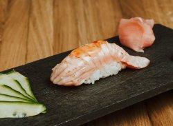 Nigiri de somon prăjit & sweet chilli / Nigiri fried salmon & sweet chill image