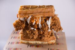 The Chicken Waffles Sandwich image