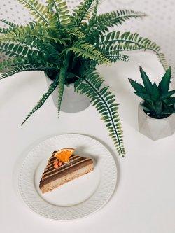 80059 - Tort cu carob, caramel și ovaz (Produs Congelat) image