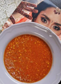 Supa indiana cu linte rosie (vegana)