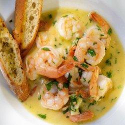 Creveți în sos de unt / Gamberi dell'Atlantico con salsa di burro, aglio e vino bianco image