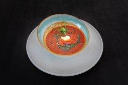 Supa cremă de roșii cu mascarpone și pesto image