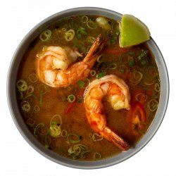 Miso shrimps soup