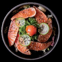 Tataki salmon salad image