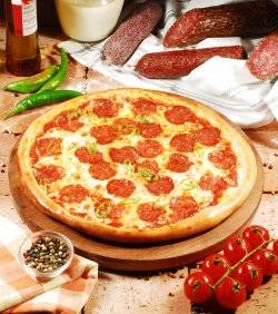 Pizza Diavola 30 cm. image