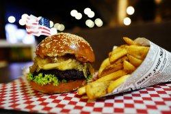 Onion jam burger image