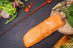 Creamy salmon risotto