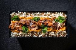 Kebun de pui cu orez, sos oriental și pătrunjel image