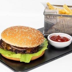 Cheesy Burger & Cartofi prăjiți image
